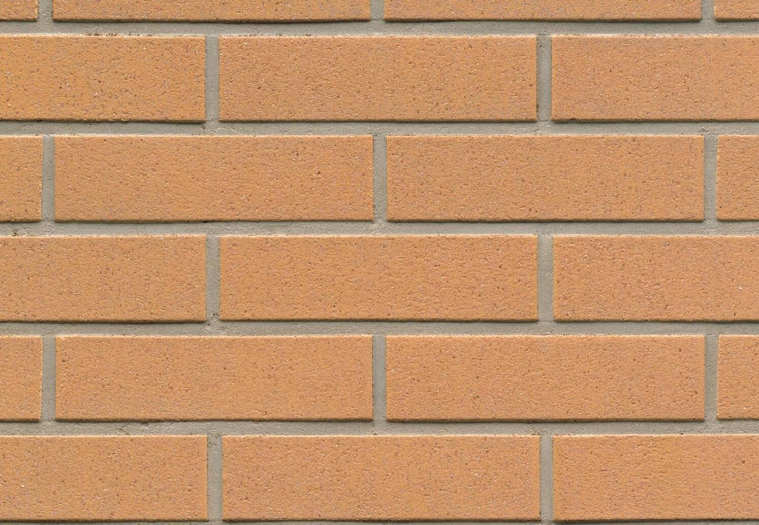 Фасадная плитка Feldhaus Klinker, Classic, Nolani, R206NF9, желтая, гладкая, с красной посыпкой
