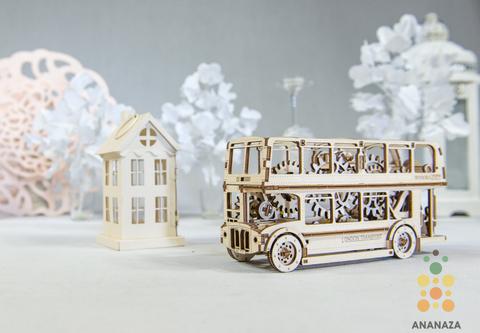 Деревянные конструкторы Wooden City. Модель  Лондонский автобус