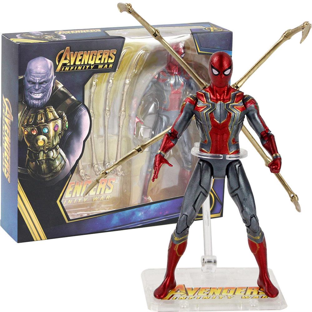 Мстители Война бесконечности фигурка подвижная Железный Паук