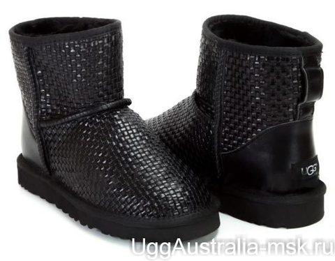 UGG Classic Mini Woven Black