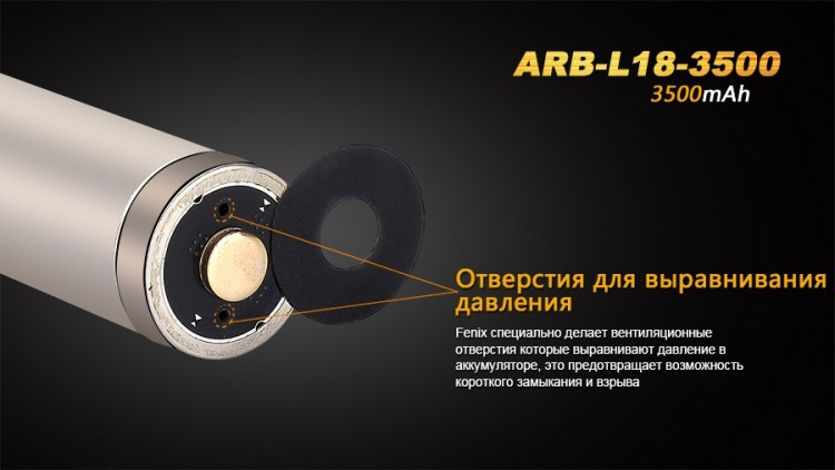 Аккумулятор Fenix ARB-L18-3500 18650 Rechargeable Li-ion Battery стоимость