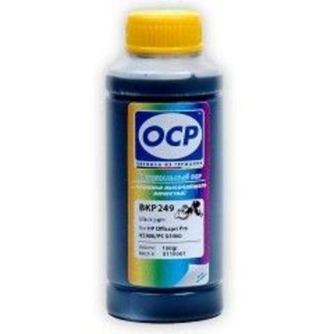 Чернила OCP BKP249 Black Pigment для картриджей HP 21/27/56/129/130/131/132/140/121/178, 100 мл