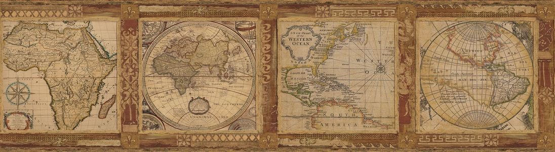 Бордюр Chesapeake Gentlemen's Quarters MAN01832B, интернет магазин Волео