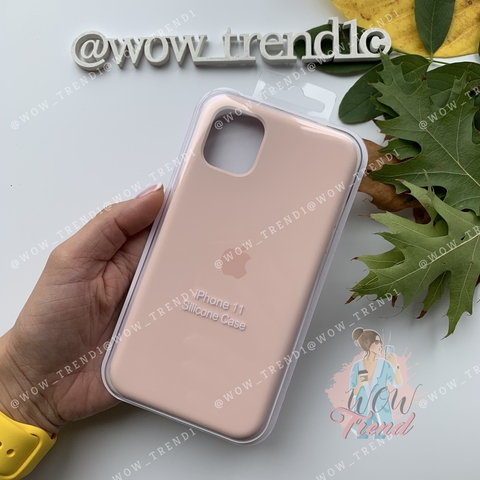 Чехол iPhone 11  Silicone Case /pink sand/ розовый песок original quality