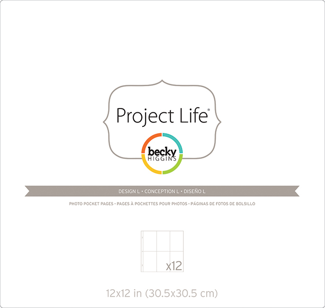 Фотофайлы Project Life-Дизайн L-штучно