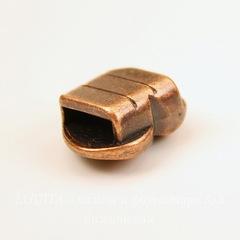 Бусина металлическая (для шнура 9,5х2,8 мм)