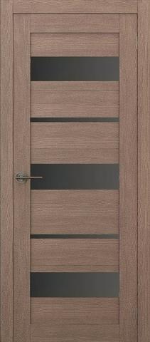 Дверь APOLLO DOORS F10, стекло чёрное Lacobel, цвет орех золотой, остекленная