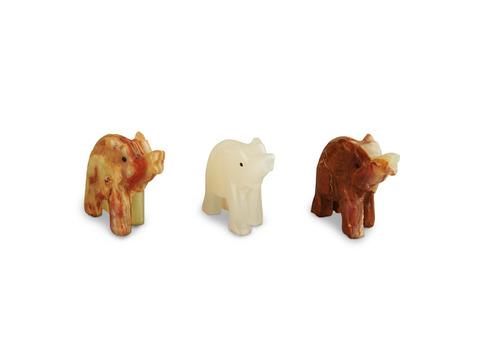 Слон из оникса средний (7х6х2,5 см). Интернет магазин чая