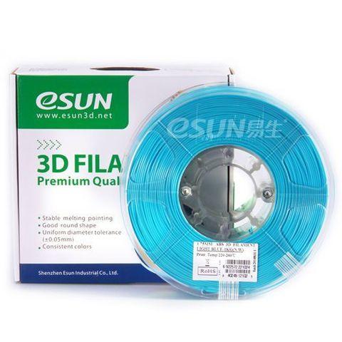 Пластик ABS ESUN 1.75 мм 1кг., голубой (ABS175D1)