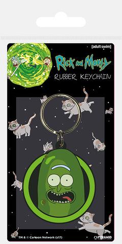 Брелок силиконовый Rick and Morty (Огурчик-Рик)