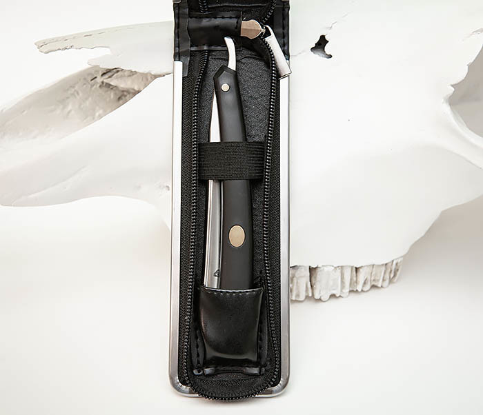 RAZ492 Недорогая опасная бритва «TITAN» с пластиковой рукояткой фото 02
