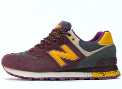 Кроссовки Женские New Balance 574 Premium Cherry Yellow