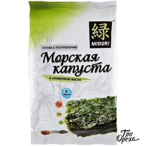 Морская капуста нори Midori в оливковом масле, 5 гр