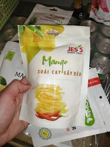 Манго сушеное с перцем чили - 200 гр.