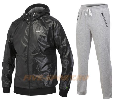 Костюм спортивный мужской Craft In The Zone Hood (ветрозащита) Black