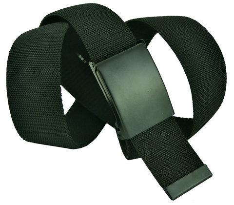 Ремень текстильный эластичный джинсовый чёрный 4 см 40Rezinka-011