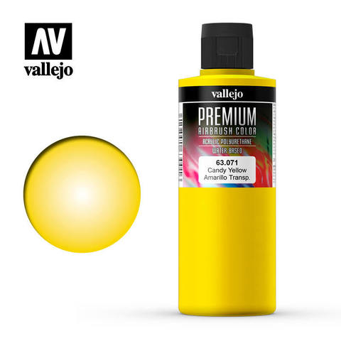 Premium Airbrush Candy Yellow 200 ml.