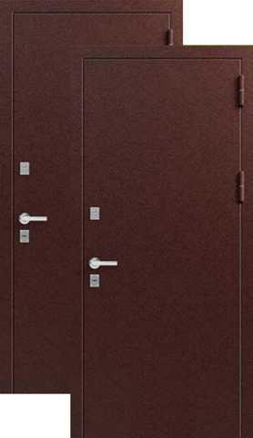 Термодверь входная ЗСД Сибирь Сибирь Термо металл/металл, 2 замка, 1,4 мм  металл, (медь антик+медь антик)
