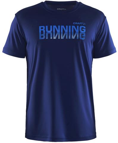 Футболка для бега мужская Craft Prime Run Logo синяя