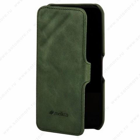 Чехол-книжка Melkco для iPhone 5sE/ 5s/ 5C/ 5 Leather Case Booka Type Craft Limited Edition Prime Dotta (Classic Vintage Green)