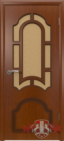 Дверь 3ДР2 (макоре, остекленная шпонированная), фабрика Владимирская фабрика дверей