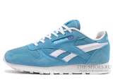 Кроссовки Женские Reebok Classic Leather Sky Blue White