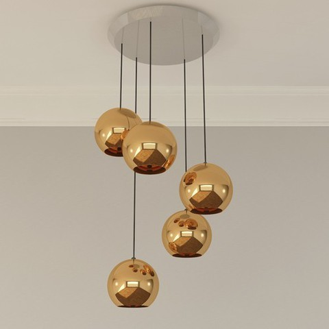 The Copper 25 5 Light Multipoint Pendant