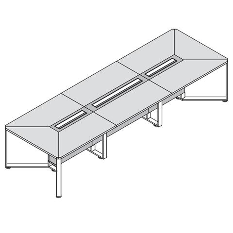 Стол прямоугольный 3600*1200 (OLLIE)