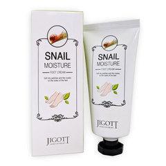Jigott Moisture Foot Cream - Крем для ног с экстрактом слизи улитки