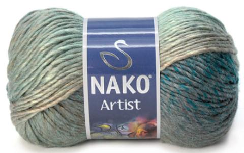 Nako Artist морская волна-полынь 86351