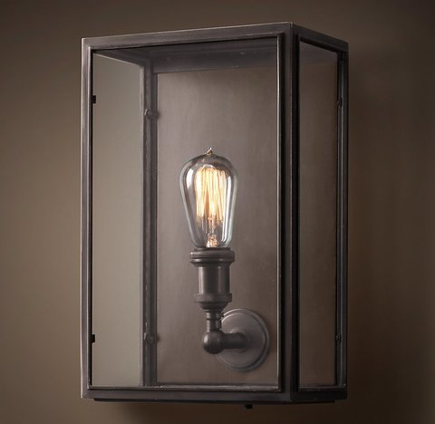 Union Filament Clear Glass Wide Sconce