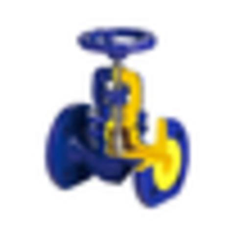 Клапан запорный чугун 215А Ду 20 Ру16 Тмакс=300 оС фл с маховиком Zetkama 215A020C00
