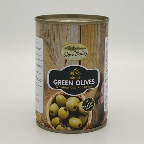Оливки зеленые без косточки OLIVE VALLEY, 280 гр