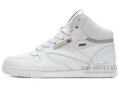 Кроссовки Мужские Reebok Classic Leather MID White ( с Мехом)
