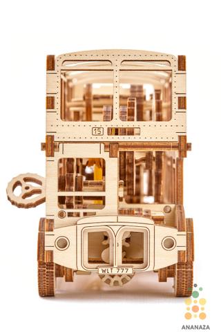 Лондонский автобус Wooden City - Деревянный конструктор, сборная модель, 3D пазл