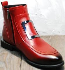 Ботинки лоферы женские Evromoda 1481547 S.A.-Red