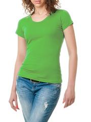 GF1010 футболка женская, зеленая