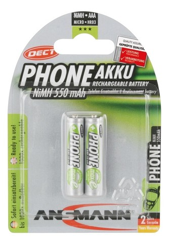 Аккумулятор ААА/NiMH ANSMANN MaxE 1.2V 550mAh Phone