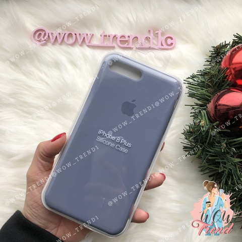 Чехол iPhone 7+/8+ Silicone Case /lavender grey/ серая лаванда 1:1