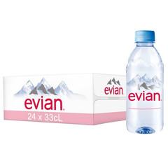 Вода минеральная Evian ПЭТ 0,33л негаз. 24шт/уп