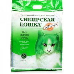 Сибирская кошка силикагелевый впитывающий, зеленый