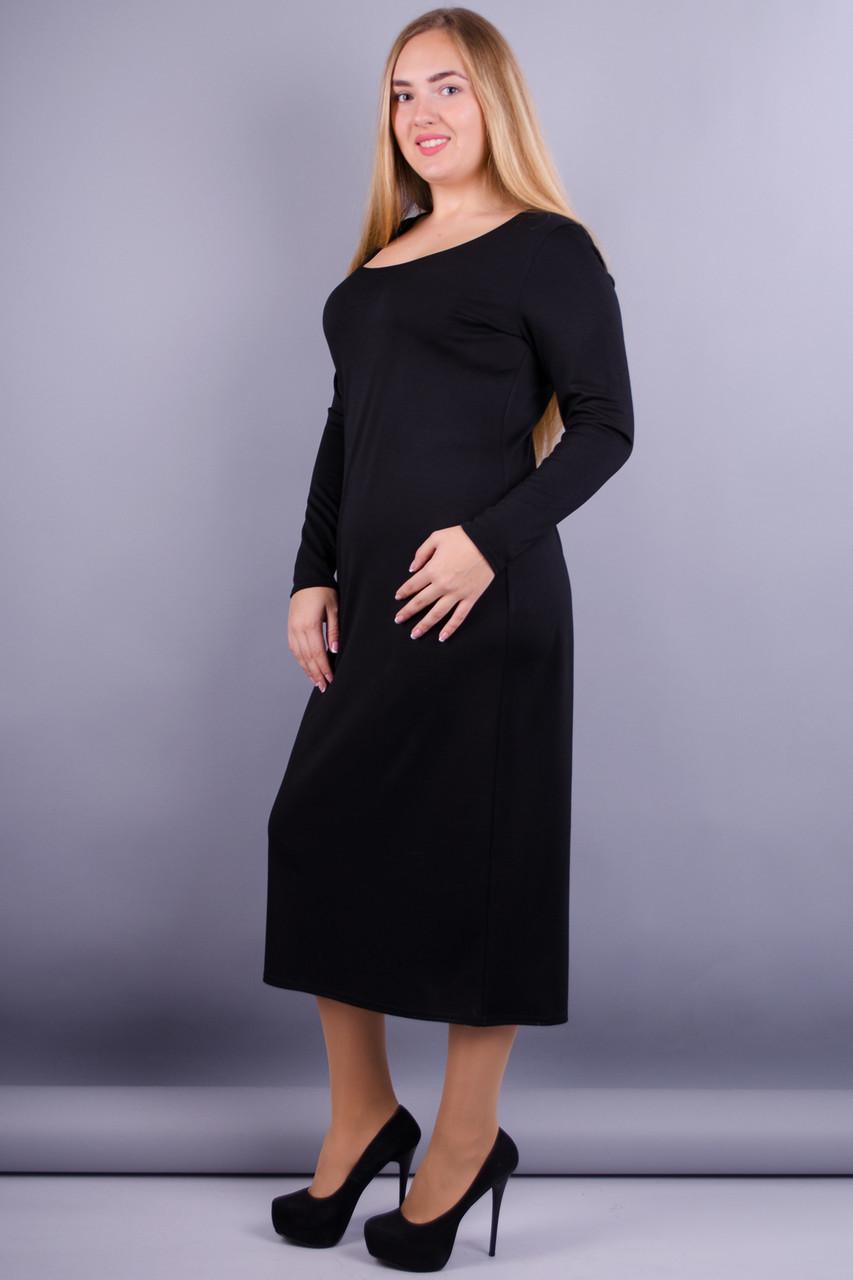 Мирослава француз. Повсякденна сукня великих розмірів. Чорний. b2874156d9b78