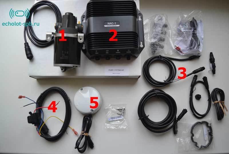Комплект поставки Lowrance Autopilot Hydraulic Pack