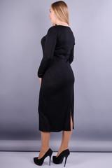 Мирослава француз. Платье больших размеров. Черный.
