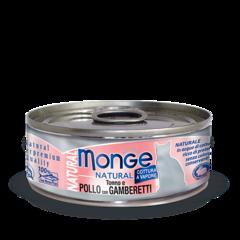 Monge Natural консервы для кошек с тунцом, курицей и креветками 80гр