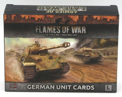 LATE WAR German Unit Cards