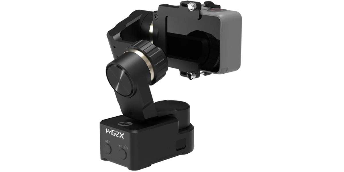 Стабилизатор трехосевой Feiyu WG2X с камерой вид сзади