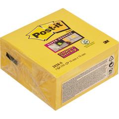 Стикеры Post-it Super Sticky куб 2028-S 76х76 неон желтый 350л.