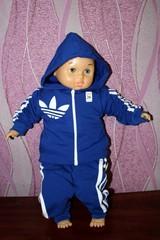 Детский спортивный костюмчик Адидас, електрик