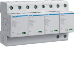 Комбинированный разрядник защиты от перенапряжения, 4пол., 6M, класс 1+2 или B, 100kA TNS, с индикацией, сменными картриджами, доп.переключающим контактом